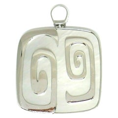 Bulgari White Gold Mother of Pearl Theme Limited Edition Pendant