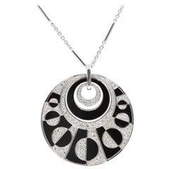 Bulgari White Intarsio with Black Onyx and Pave Diamond Necklace