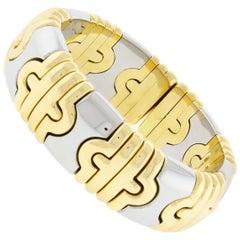 Bulgari Wide Parentesi Two-Tone Gold Bangle Bracelet