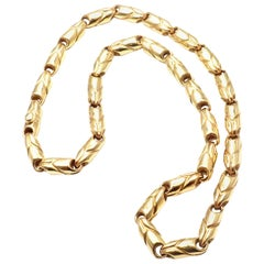 Bulgari Wide Yellow Gold Link Chain Necklace