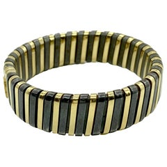 Bulgari Yellow and Blackened Gold Bracelet