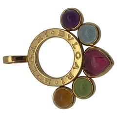 Bulgari Gold mit Mehrfarbigen Steinen