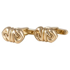 Bulgari Yellow Gold Cuff Links