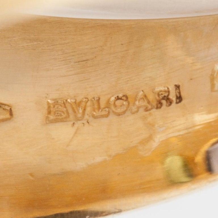 Bulgari Yellow Gold Heart Shaped Gemstone Ring For Sale 1