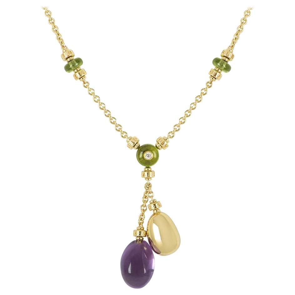 Bulgari Yellow Gold Multi-Gemstone Mediterranean Eden Necklace