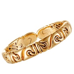 Bulgari Yellow Gold Open Bangle Bracelet
