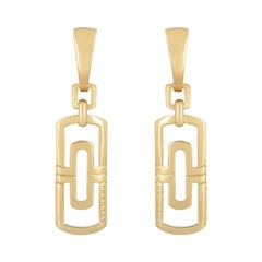 Bulgari Yellow Gold Parentesi Drop Earrings