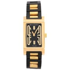 Bulgari Yellow Gold Rettangolo Self-Winding Wristwatch