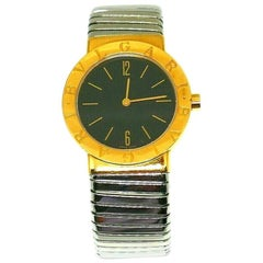 Bulgari Yellow Gold Stainless Steel Tubogas Wristwatch