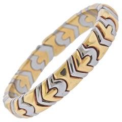Bulgari Yellow Gold Steel Bracelet