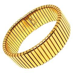 Bulgari Yellow Gold Tubogas Bracelet