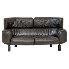 Bull Leather Sofa by Gianfranco Frattini for Cassina