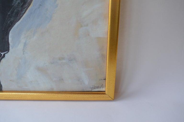 Austrian Bull Oil Painting on Canvas For Sale