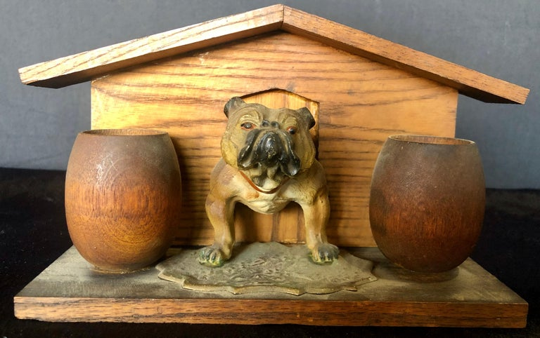 Bulldog and Kennel Humidor Cover, Estate of Jerry Terranova In Good Condition For Sale In Stamford, CT