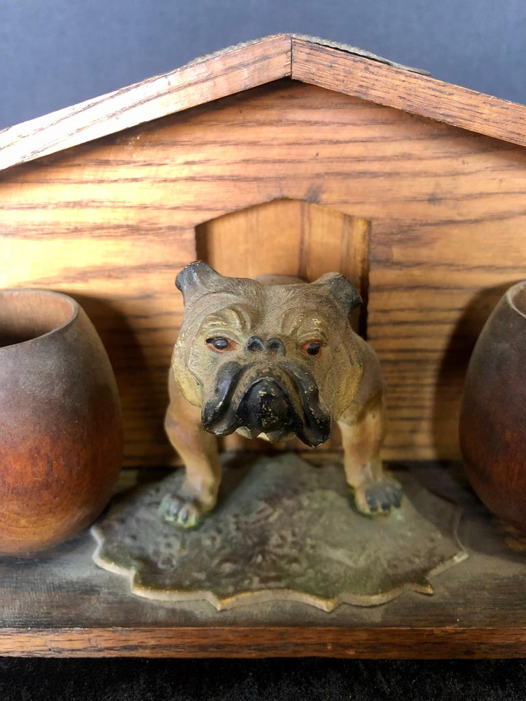 Mid-20th Century Bulldog and Kennel Humidor Cover, Estate of Jerry Terranova For Sale