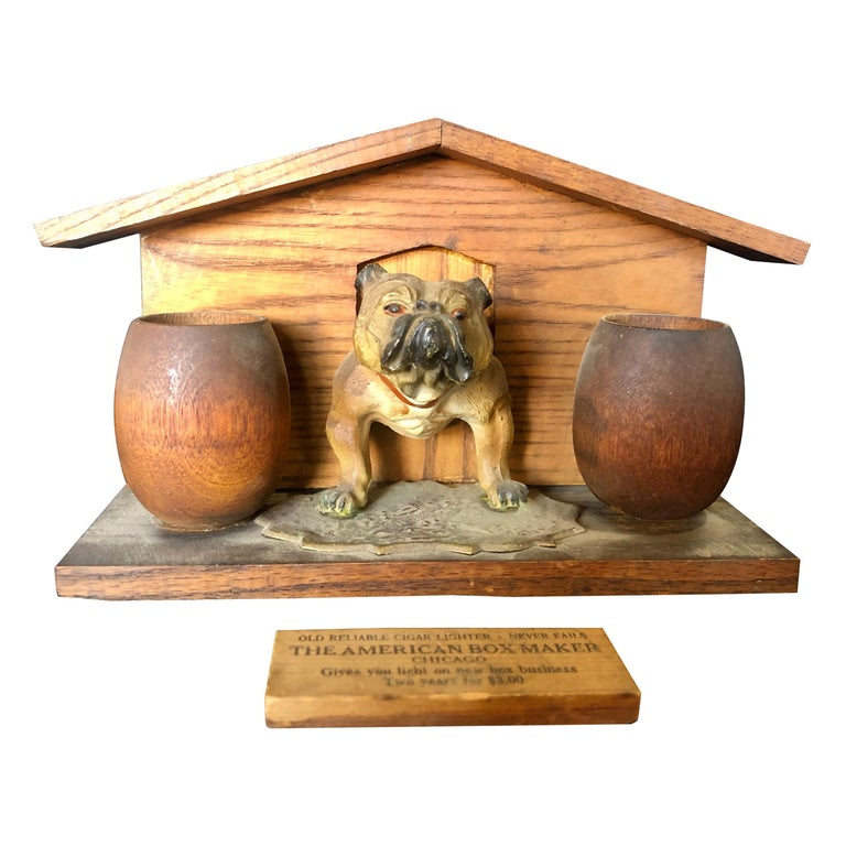 Bulldog and Kennel Humidor Cover, Estate of Jerry Terranova For Sale
