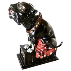 """Bulldog Bank"" American, circa 1880 Cast Iron Mechanical Bank"