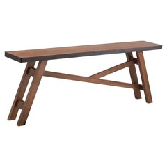 Bulle Hand Carved Console Table in Solid Oak Wood