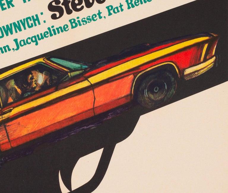 Paper Bullitt 1971 Polish A1 Film Movie Poster, Stachurski For Sale