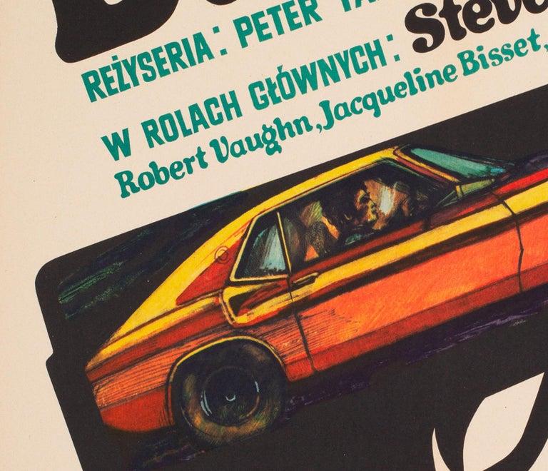 Bullitt 1971 Polish A1 Film Movie Poster, Stachurski For Sale 1