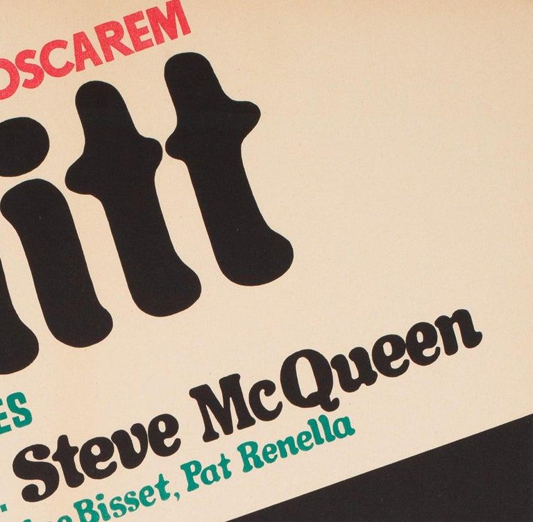 Bullitt 1971 Polish A1 Film Movie Poster, Stachurski For Sale 2