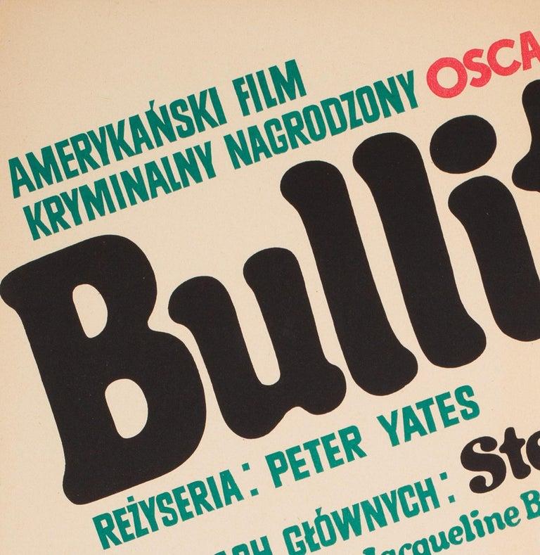Bullitt 1971 Polish A1 Film Movie Poster, Stachurski For Sale 3