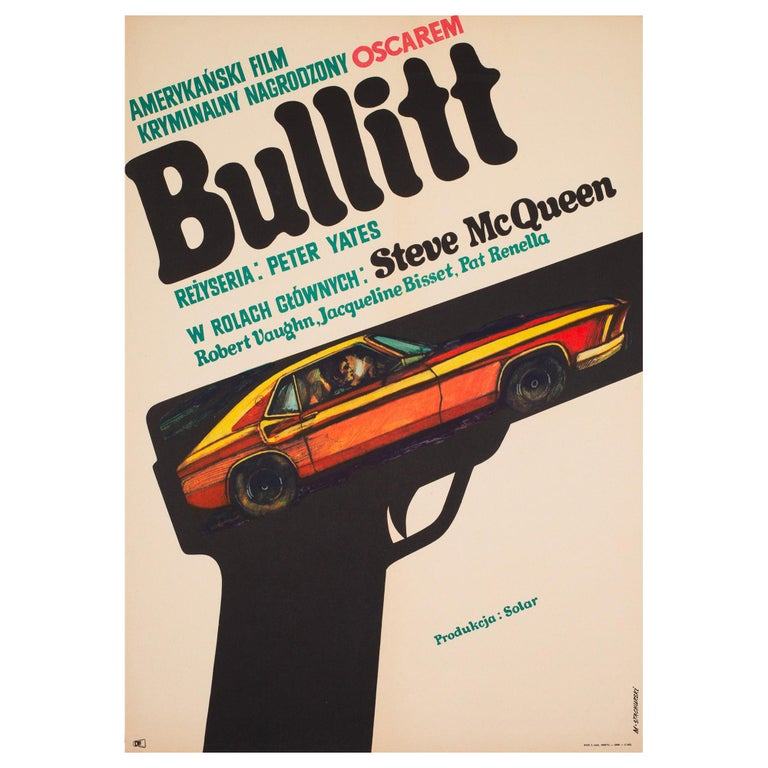 Bullitt 1971 Polish A1 Film Movie Poster, Stachurski For Sale