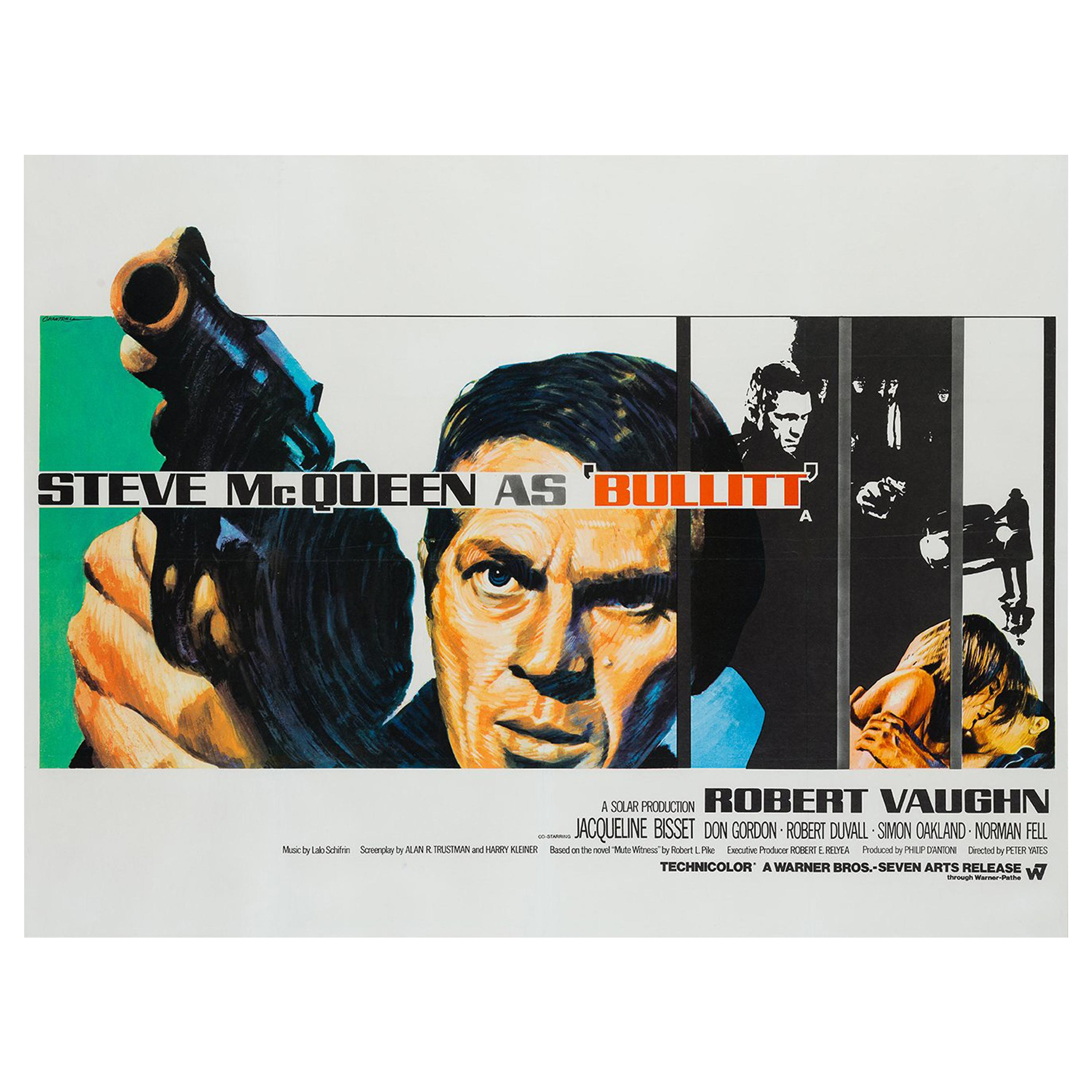 Bullitt Original UK Film Poster, Tom Chantrell, 1968