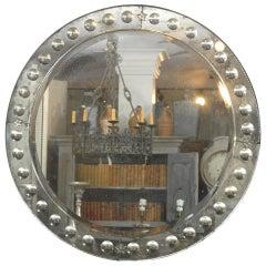 Bullseye Circular Venetian Style Mirror, Hand Silvered