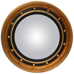Bullseye Convex Gold Leaf Mirror