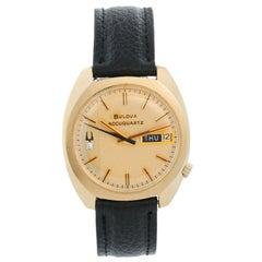 Bulova Accuquartz 14 Karat Yellow Gold Men's Watch