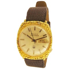 Bulova Accutron 14 Karat Yellow Gold Vintage Watch I 704679