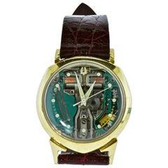Bulova Accutron Spaceview D Gold Wristwatch, circa 1961