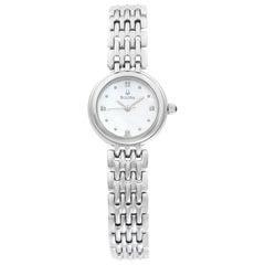 Bulova Diamond Petite Classic Stainless Steel Quartz Ladies Watch 96P122