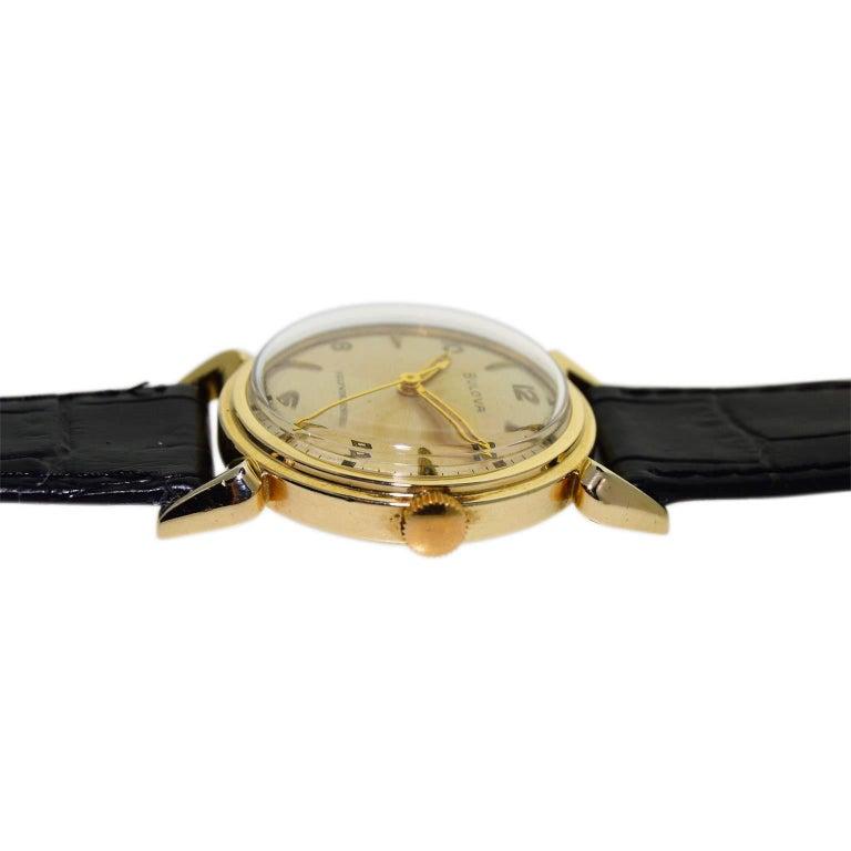 Bulova Gold Filled Quartered Dial Art Deco Self winding Wristwatch, circa 1960s For Sale 1