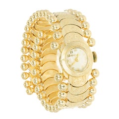 Bulova Ladies Yellow Gold Art Deco Manual Wind Wristwatch