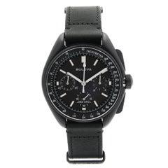 Bulova Special Edition Lunar Pilot Chronograph Black Dial Quartz Watch 98A186