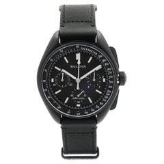 Bulova Special Edition Lunar Pilot Steel Black Dial Quartz Mens Watch 98A186