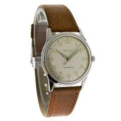 Bulova Stainless Steel Moderne Manual Wrist Watch, circa 1960s