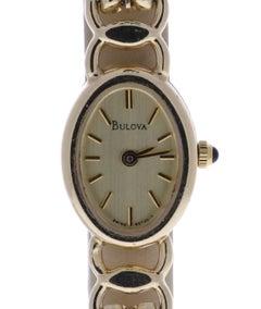 Bulova Vintage 95T20Y 14 Karat Yellow Gold Certified Pre-Owned