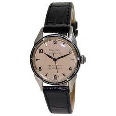 Bulova White Gold Filled Art Deco Automatic Wristwatch