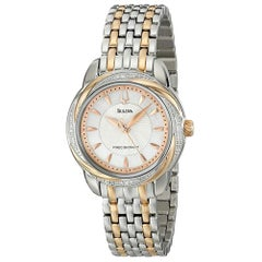 Bulova Womens Precisionist Brightwater Two-Tone Stainless Steel Watch 98R153