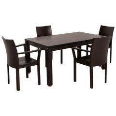 Bulthaup Corpus Nemus Dining Room Set Dark Brown 1 Dining Table 2 Chair Table