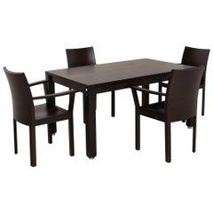 Bulthaup Corpus Nemus Dining Room Set Dark Brown 1x Dining Table 2x Chair Table
