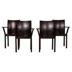 Bulthaup Nemus Wood Chair Set Dark Brown Brown 4x Chair
