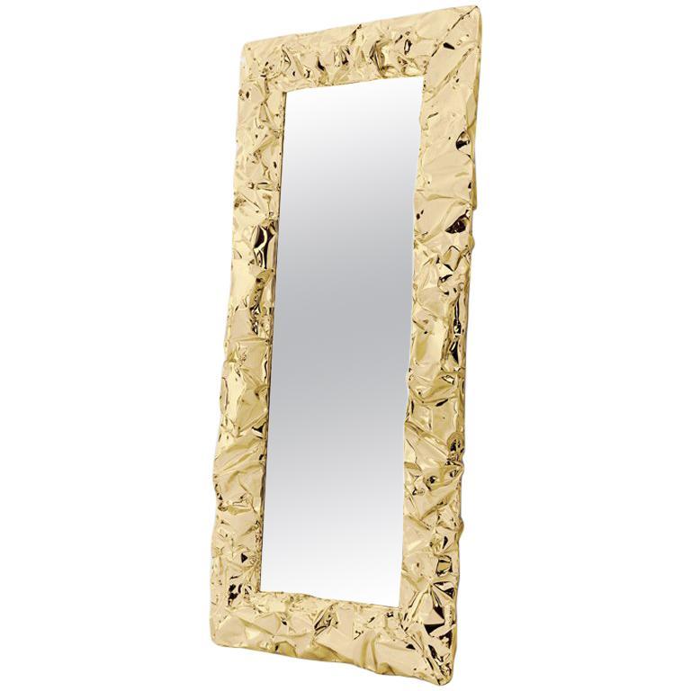 Unebener Spiegel Mit Gold Oder Chrom Finish Im Angebot Bei 1stdibs