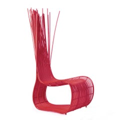 Bundle Lounge Chair in Red, Natural or Green Finish
