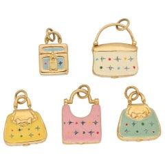Bundle of Handbag Charms in 18 Karat Yellow Gold