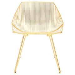 Bunny Lounge Chair in Gold, a Limited Release, Modern Wire Chair