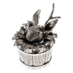 Bunny Sterling Silver Sugar Container
